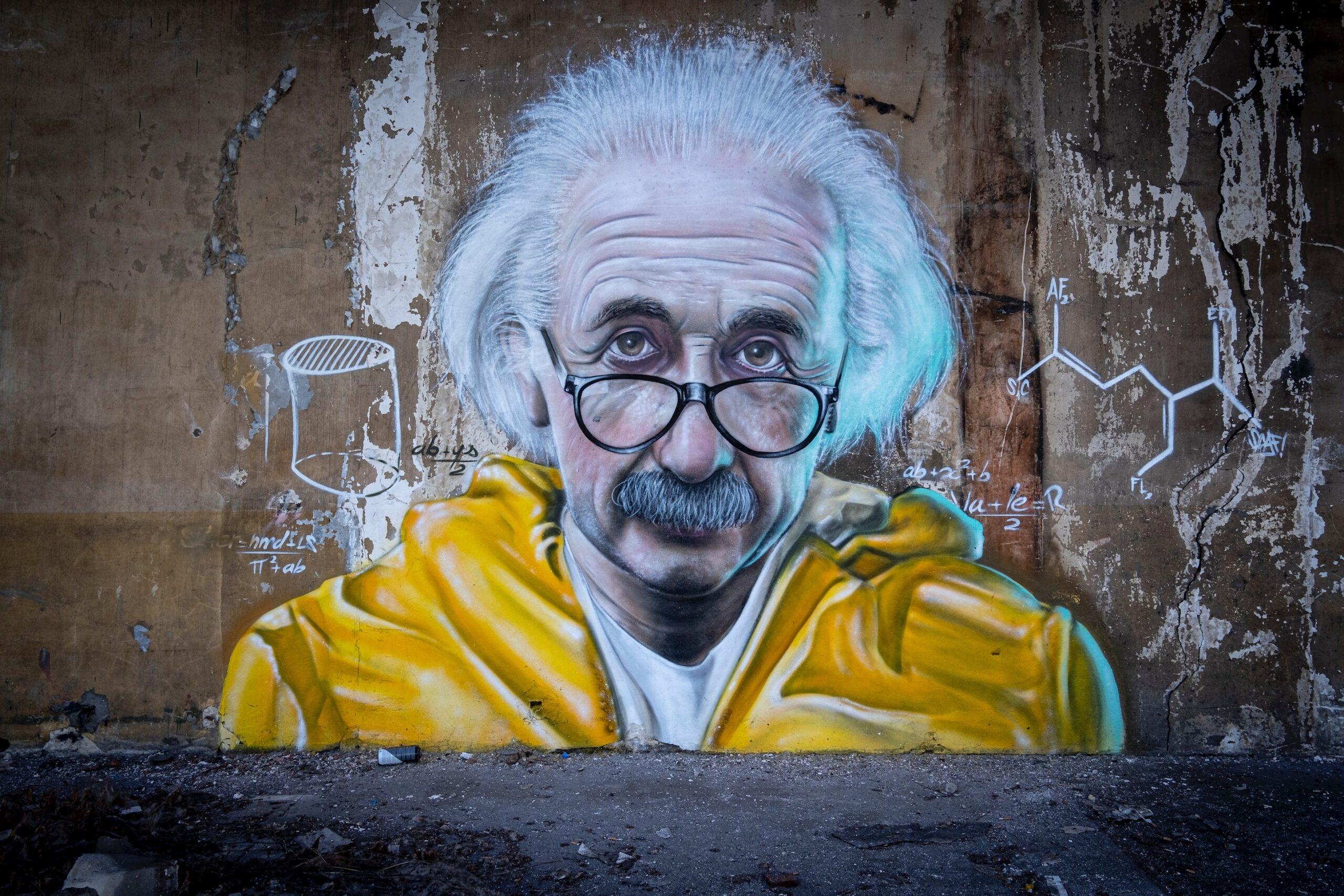Albert Einstein graffiti